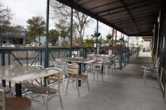 Outdoor dining area at Uptown Market at Third & Main