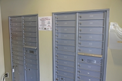 USPS Resident mail boxes for each unit