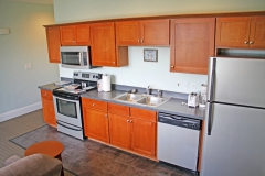 Clean modern kitchen with stainless steel appliances