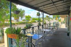 Outdoor patio at Uptown Kitchen