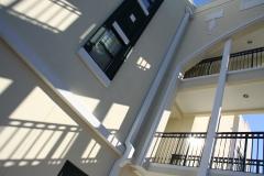 Walkway arches between rooms at Third & Main