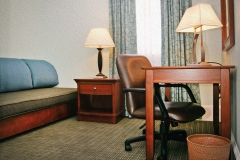 Office area in suite at rooms at Third & Main