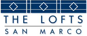 art deco logo of The Lofts San Marco