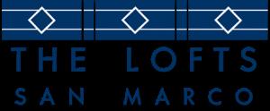art deco logo of The Lofts San Marco