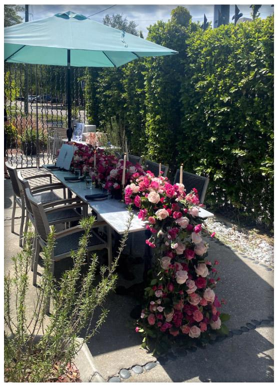 Bistro X, Bar X, private event patio