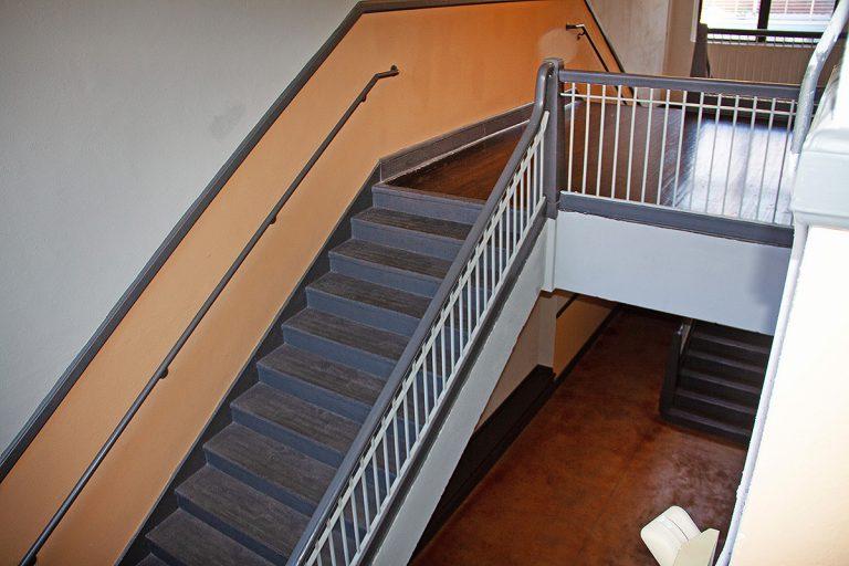 historic stairwell at South Jacksonville Grammar School