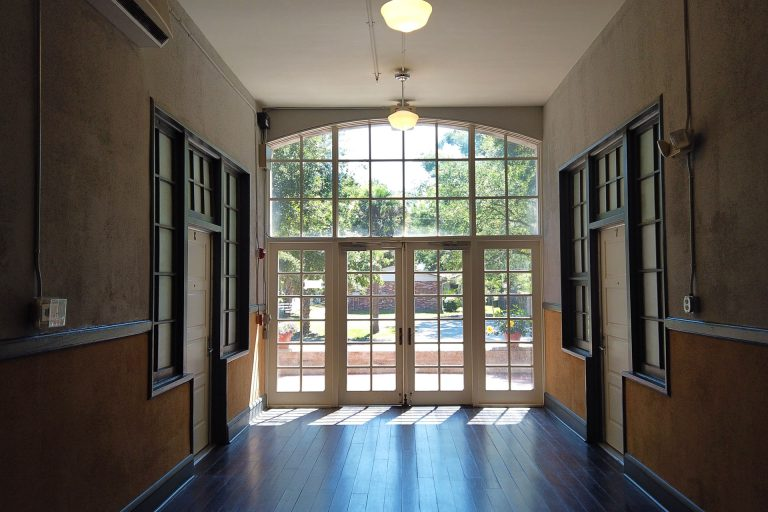 windows at lobby front entrance at The Lofts San Marco